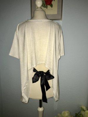 T-Shirt von Zara mit schwarzem Schleife hinten