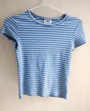 T-Shirt Weekday S blau weiß gestreift