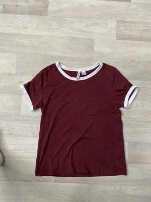 T Shirt weinrot