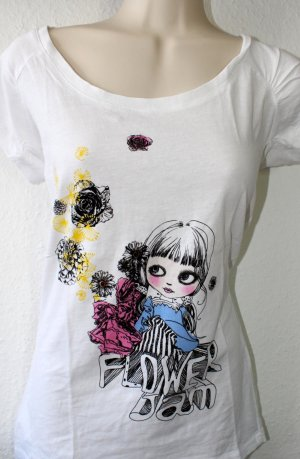 Castro T-Shirt white-black cotton