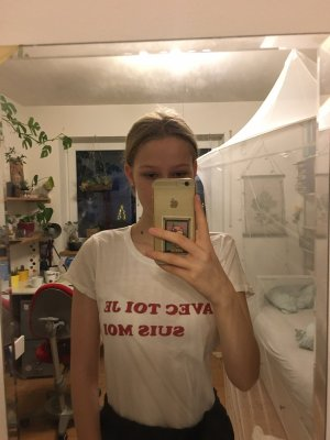 T-Shirt weiß Französicher Spruch