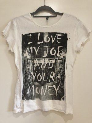 T-Shirt weiß, Madonna, Gr. XL
