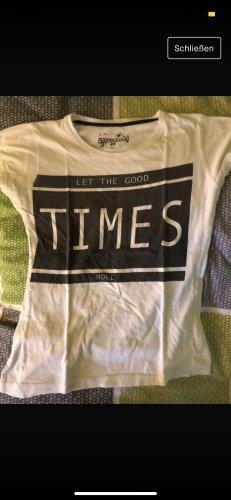 T-Shirt weiß mit Aufschrift
