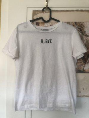 T-Shirt, weiß mit Aufschrift