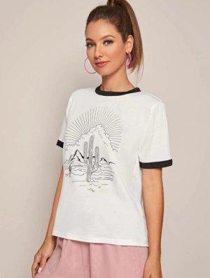T-shirt Weiß-Schwarz