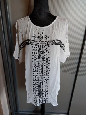 T-Shirt weiß schwarz Promod
