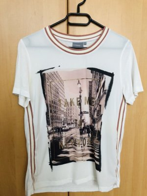 B.young T-shirt blanc-or rose