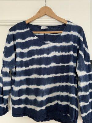 Zara Batik Shirt dark blue-white