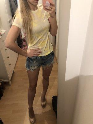 T-Shirt ZARA Gelb gemustert M