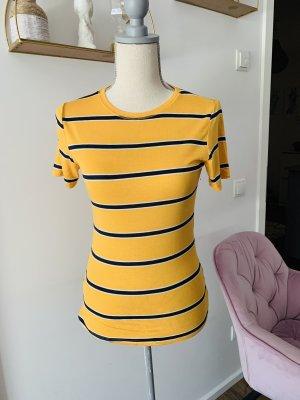 T—Shirt Zara gelb gestreift S