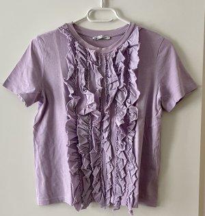 Zara Top met franjes paars-lila