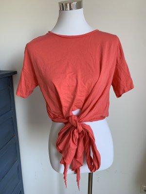 T-Shirt Zara S 36 coralle lachs orange Baumwolle