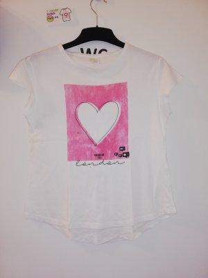 T Shirt zara weiß mit rosa Herz