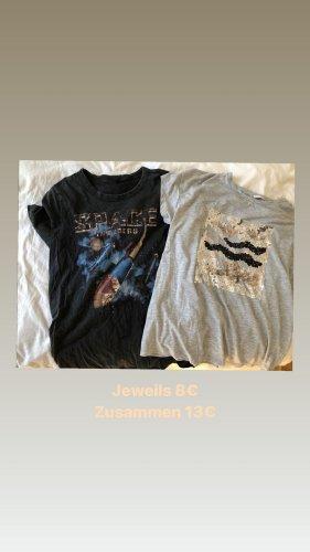 T-Shirts mit Druck/ Pailletten