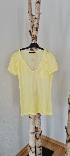 Hallhuber T-shirt bladożółty