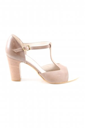 T-Steg-Pumps nude-weiß Business-Look