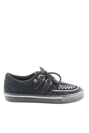 Zapatos brogue negro-blanco look casual