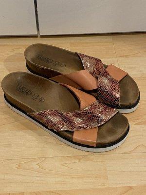 Tabarca Leder-Sandalen Gr.41 rose Schuhe Hausschuhe