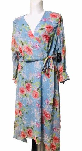 Tacera Damen Sommer Blumen Kleid L