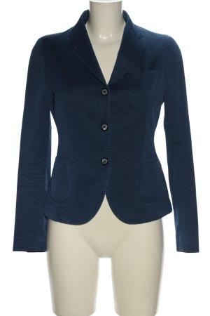 Tagliatore Kurz-Blazer blau Business-Look