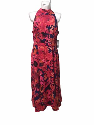 Tahari Damen Kleid Blumen Dress Bunt XL