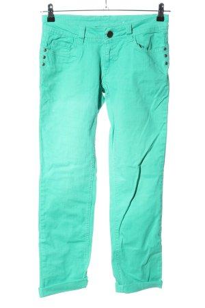 Tahari Straight-Leg Jeans türkis Casual-Look