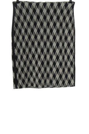 Taifun Jupe crayon noir-blanc motif à carreaux style décontracté