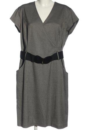 Taifun Pencil Dress light grey-black weave pattern casual look