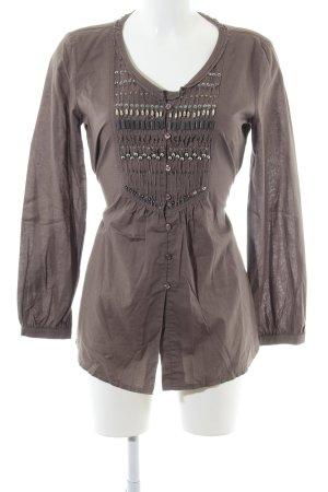 Taifun Blusenkleid bronzefarben Casual-Look