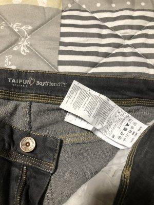 Taifun Jeans boyfriend argenté coton