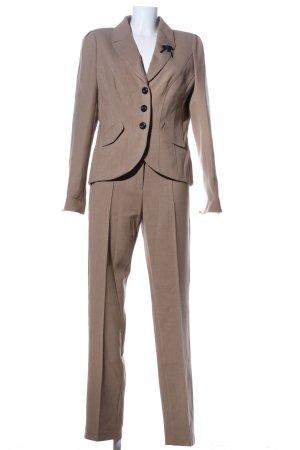 Taifun Costume business brun Motif de tissage style d'affaires