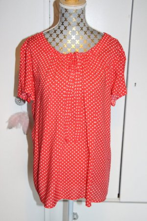Taifun Blusa Camisa rojo-blanco Viscosa