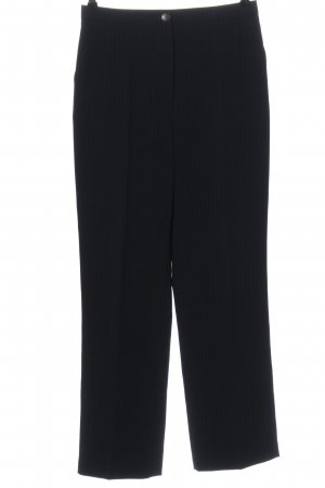 Taifun Collection Pleated Trousers black striped pattern casual look