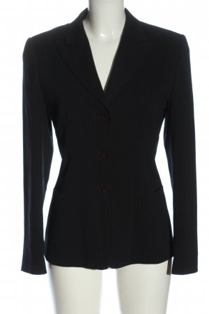Taifun Collection Short Blazer black striped pattern business style