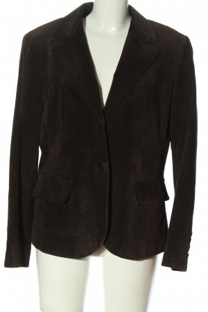 Taifun Collection Blazer en cuir brun style d'affaires