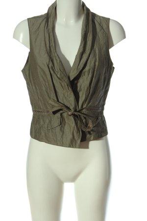 Taifun Collection Smanicato lavorato a maglia cachi stile professionale
