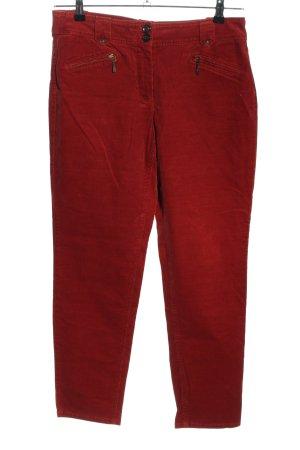 Taifun Corduroy broek rood casual uitstraling