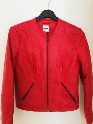 Taifun Blazer en cuir rouge cuir
