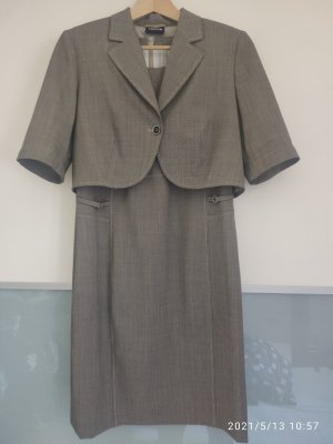 Taifun Robe fourreau gris brun