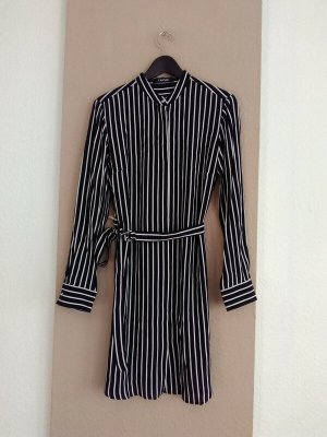 Taifun Robe chemise noir-blanc viscose