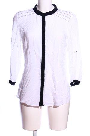 Taifun Hemd-Bluse weiß-schwarz Casual-Look