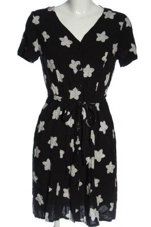 Taifun Koszulowa sukienka czarny-biały Na całej powierzchni W stylu casual