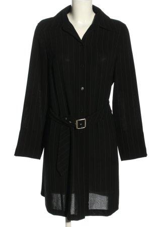Taifun Robe chemise noir motif rayé style décontracté