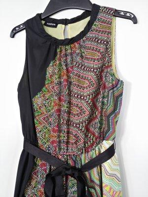 Taifun Kleid schwarz-bunt