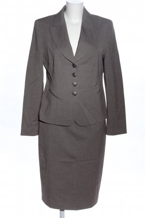 Taifun Ladies' Suit light grey weave pattern business style