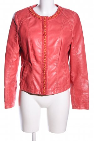 Taifun Faux Leather Jacket red casual look