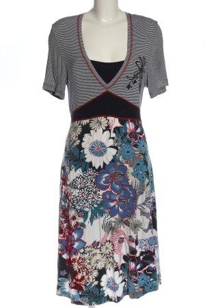 Taifun Sukienka z krótkim rękawem Wzór w kwiaty W stylu casual
