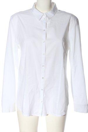 Taifun Chemise à manches longues blanc style d'affaires