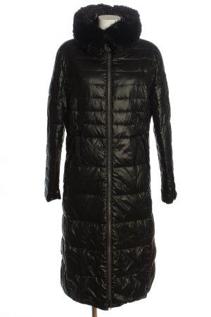 Taifun Długa kurtka czarny Pikowany wzór W stylu casual