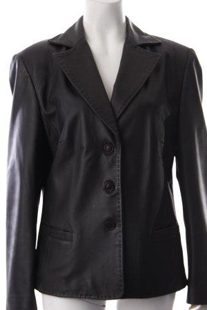 Taifun Leather Blazer black
